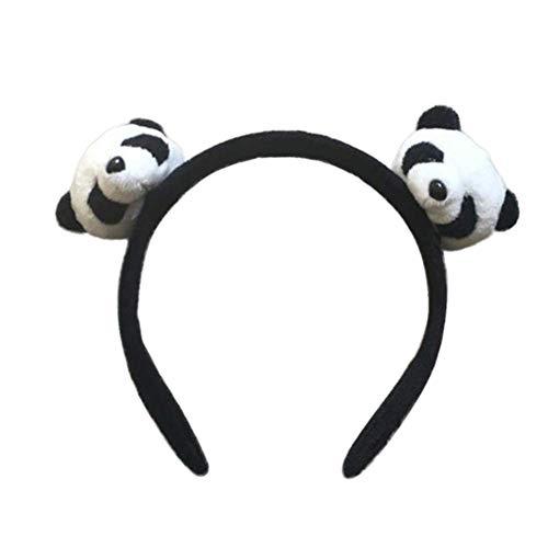 Fliyeong Cute Plush Panda Kids Girls Hairband Headband Hair Clip Ponytail Ring Accessory Lady Gift Durable and Useful
