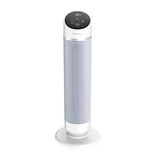 Rowenta Hot&Cool Silent 3 en 1 - Ventilador/calefactor, modo Eco, temporizador con apagado automático, encendido programable, oscilación electrónica, mando a distancia, pantalla táctil extra grande