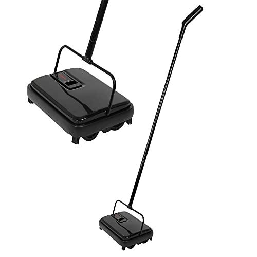 Eyliden タービー 手動掃除機 掃除機 じゅうたんタービー クリーナー スイーパー 一体型 片手操作 静音 電気不要 180°回転 300ML 軽量 コンパクト FT-MOP09 カーペット 絨毯 畳 タイル ブラック