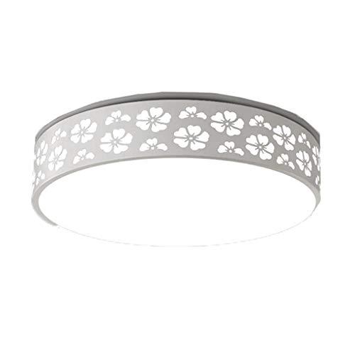 WDX Plafondlamp, acryl, woonkamer, slaapkamer, kantoor, verlichting, LED-licht, wit, dimbaar, afstandsbediening met drie kleuren, energiebesparend