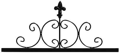 ガーデンガーデン IBフェンス アイアン ローズパネル専用 トップ 飾りパーツ 45×20cm トレリス・ウォールデコ IBF-RSPNL-TOP