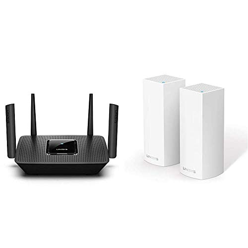 Linksys AC2200 - Router WiFi MU-MIMO tribanda MAX-Stream + Velop AC4400 - Sistema WiFi Intelligent Mesh
