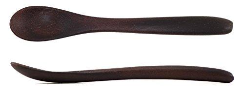 Wood Baby Spoon, 6 in Handmade Wooden Baby Spoon, Hardwood and Heirloom, A Keepsake Wood Feeding Spoon - Ebony