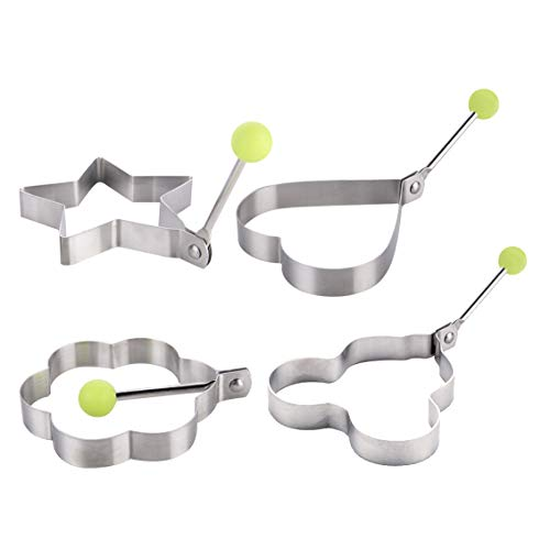 YLX Edelstahl Spiegelei Form, 4 Stück Spiegelei Formen für Spiegelei Stainless Steel Kitchen Gadget Tool