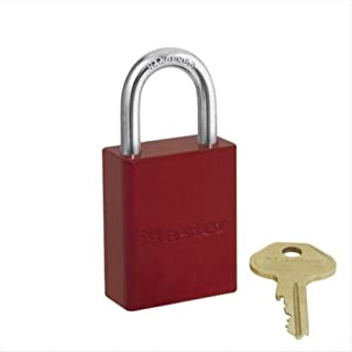 Master Lock 470-6835RED 5 Pin Red Safety Lockout Padlock Keyed Different, 5 Pin Red Safety Lockout Padlock Keyed Different -Box Of 6 Ea
