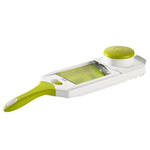 Emsa 507494 Profi-Hobel, Verstellbare Klinge, Länge: 38 cm, Weiß/Grün, Smart Kitchen