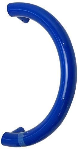 HEWI 550.40 KSLT 1 Stück Stoßgriff Ohne Befestigung Lochteil Stangengriff Türgriff Blau -Schwarz 40cm (Blau)
