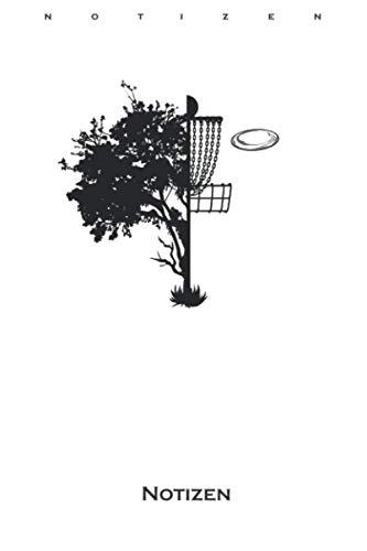 Baum und Korb Discgolf Notizbuch: Liniertes Notizbuch für Discgolfer und Fans des Frisbeesportspiels
