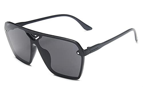 WANGZX Gafas de Sol deslumbrantes con Personalidad de Moda Gafas Deportivas de conducción para Hombres de plástico para Hombres NegroGris