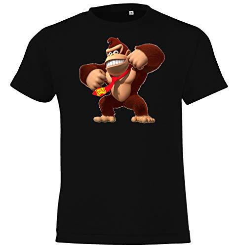 TRVPPY Maglietta da bambino modello Donkey Kong Nero 6 anni