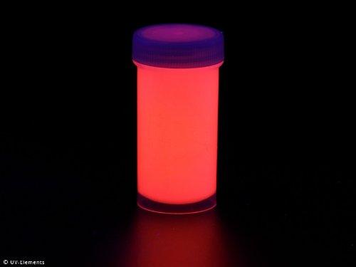 Unsichtbarer Leuchtlack 50ml - rot