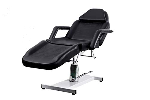 Danyel Beauty Massage Facial Bed Adjustable Table Chair With Hydraulic Pump Beauty Spa Salon Tattoo (black)