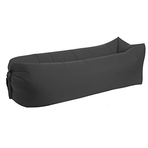 Ybqy Air slaapzak 240 * 70cm Camping Mat Lazy Bag Opblaasbare Air Sofa Nylon Laybag Air Draagbare Beach Bed Pad Lazy Sofa Ligstoel Lounge