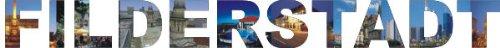 PEMA INDIGOS UG - Wandtattoo Wandsticker Wandaufkleber - Aufkleber farbige Wandschrift Städtename Städtename Filderstadt mit Sehenswürdigkeiten 180 x 18 cm Länge