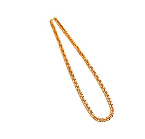 Aeici Colgante Hombre Vintage Cadena Curb Collares para Hombres Oro Largo 90 Cm