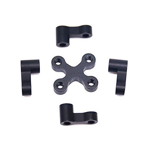 GzxLaY Aleación de Aluminio Negro 4 + 1 Piezas para FPV Quadcopter RC Drone Frame Quadcopters Piezas Accesorios (Color: Negro) (Color : Black)