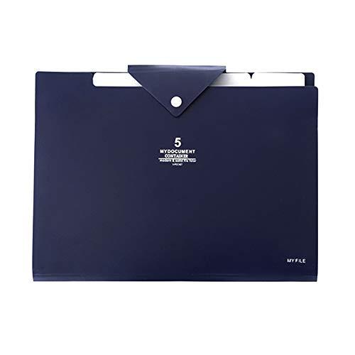 Baywell Tragbarer Organbeutelordner mit 5 Taschen A4 zukünftigete Dateiordner Plastic Document Organizer
