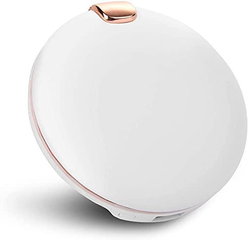 Sendowtek 3 in1 Elektrische PowerBank - Wiederaufladbar Makeup-Spiegel mit Lichter 6000mAh Batterie Handwärmer Tragbare USB-Gebühr für einkaufen Treffen Angeln Wandern Wintergeschenk