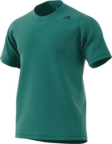 adidas Freelift Sport - Camiseta de Manga Corta con 3 Rayas para Hombre, Hombre, Manga Corta, S1950MTR342B, Verde Activo, S