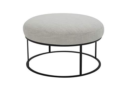 Amazon Brand – Rivet Revere Round Upholstered Iron-Framed Ottoman, 30.3