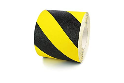 "Standard Black/Yellow Hazard Anti Slip Grip Tape (6"" x 60ft)"