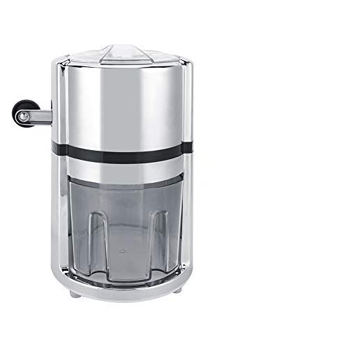 Stainless Steel Ice Crusher Hand Crank Manual Ice Crusher Shaved Round Shape Ice Machine for Home Commercial