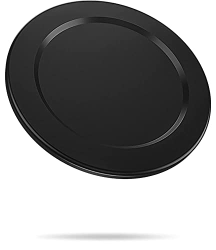metisinno Magnetic Base for iPhone 13 12 MagSafe Accessories Intended for PopSocket Collapsible Grip and Stand【Removable Wireless Charging Compatible Mag Safe Case Must Use】- Black
