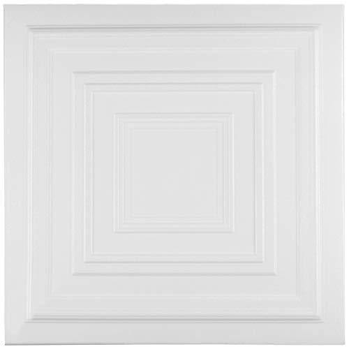 Plafondplaten | XPS | vormvast | Hexim | 50x50cm | Nr.31 10 m² / 40 Platten wit