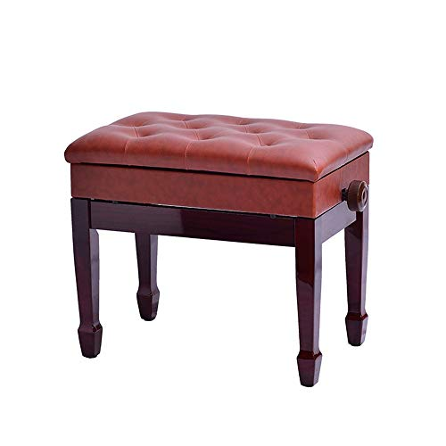 Find Discount Jdeepued Piano Stool Horseshoe Legs Single with Book Box Lift Piano Stool Solid Wood E...