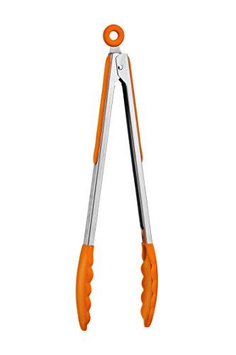 Premier Housewares - Pinzas de Silicona, Color Naranja - Gama zing