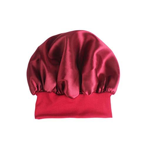 Healifty Sleep Night Cap Banda Ancha de satén Bonnet Night Head Cover Turbantes de Cabello Suave