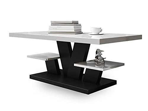Viva - Mesa de Centro - Mesa Centro Salon - Mesa Comedor 110x60x45cm - Mesa de café - mesas de Centro para el Salon - Elegante Muebles Salon Sala de Estar (Negro)