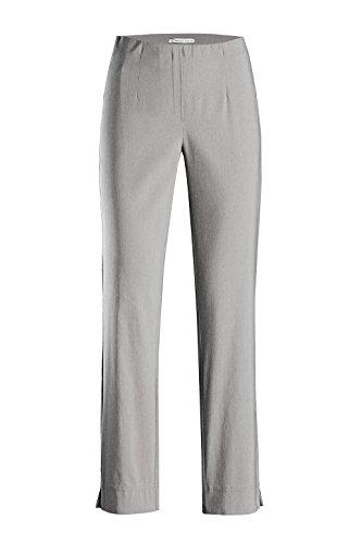 Stehmann INA740 The Orginal Stretchhose Pull-on Hose - Neue Collection *** mit EXTRA Prinidor Schal/-Tuch passend zur Hosenfarbe *** (34, Light Grey)