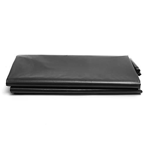 Teichfolien Zuschnitt Premium PVC Teichfolie Schwarz Stärke 0,4 mm Schwimmteich Folie Gartenteich Teichplane, für Teichbau, Garten- und Teichzubehör, mit Reparaturband(Color:0.4mm,Size:6x26ft/2x8m)
