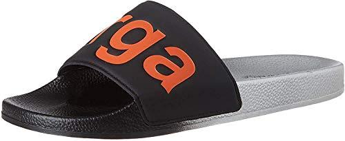 Superga 1908-puu, Zapatos de Playa y Piscina Unisex Adulto, Multicolor (Silver/Black/Orange A0c), 42 EU