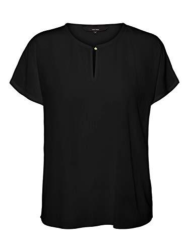 VERO MODA Damen Vmaria Blouse Noos Shirt, Black, L EU