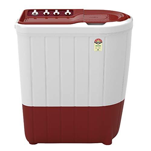 Whirlpool 7 Kg 5 Star Semi-Automatic Top Loading Washing Machine (SUPERB ATOM 7.0, Coral Red, TurboScrub Technology)