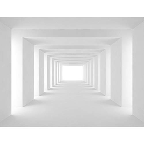 Fototapete 3D Effekt 352 x 250 cm Vlies Tapeten Wandtapete XXL Moderne Wanddeko Wohnzimmer Schlafzimmer Büro Flur Grau 9404011c