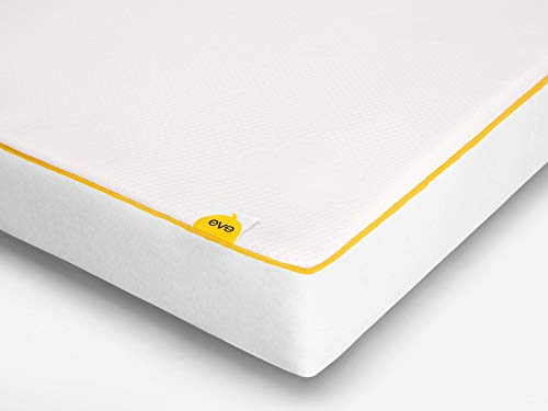 eve Sleep Baby Cot Kids Breathable, Waterproof Memory Foam and Spring Bed Mattress, 60 x 120cm, Polyester, White