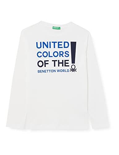 United Colors of Benetton T-Shirt M/L 3i1xc151s Camiseta, Bianco 101, Large niños y niñas