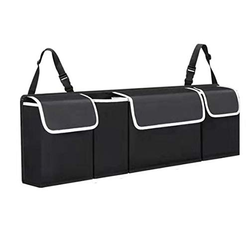 Bolsa de almacenamiento para maletero de coche, bolsa de almacenamiento para maletero de coche, maletero, asiento trasero, asiento trasero, material de tela Oxford, color negro, gran capacidad