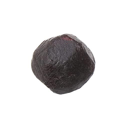 DealMux Natural Red Garnet Ore Energy Crystal Stone Cuarzo en bruto Muestras de minerales Fabricación de joyas Piedras preciosas Inicio Decro Stone (Color: Negro Rojo, Tamaño: 1 PC 2.5cm)