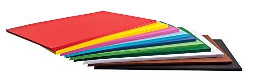 Folia 125 Bogen Tonkarton Bunt, DIN A2, 160g/m², 10 Verschiedene Farben