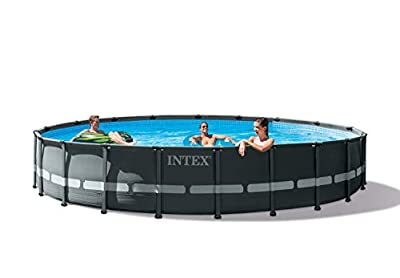 Intex 26333EH Ultra XTR Set Above Ground Pool, 20ft X 48in, Gray