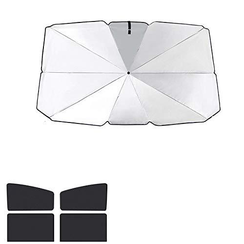Parasol para coche Sun del coche del parabrisas de la cortina de la cubierta del protector del interior del coche parasol con protección UV automática de la ventana delantera plegable cubierta Sombril