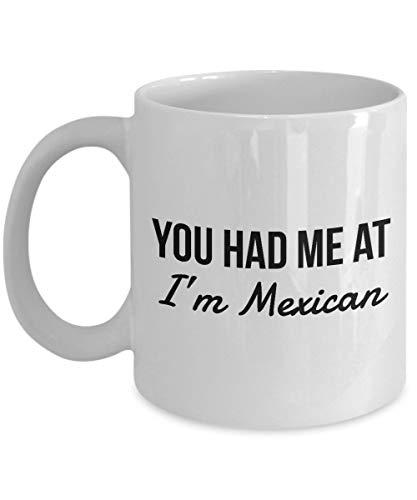 Alicert5II Mexicaanse mok met tekst 'Mich am Mexicaanse Mexicaanse koffiekopje'-Mexico-cadeau in