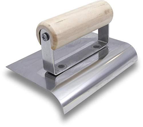Paca marszałkowska, R 13mm, L 16mm z drewnianą rączką, wykonana ze stali nierdzewnej, do posadzek i betonu, wymiary: 152x102 mm