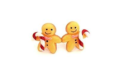 Puces d'oreilles Noël bonhomme en pain d'épice sucre d'orge, Boucles d'oreilles enfants gingerbread bonbon Noël en résine