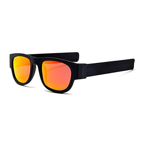 QFSLR Gafas De Sol, Diseño De Pulsera, Gafas De Sol Polarizadas Plegables, Protección UV400, Gafas De Sol Portátiles,D