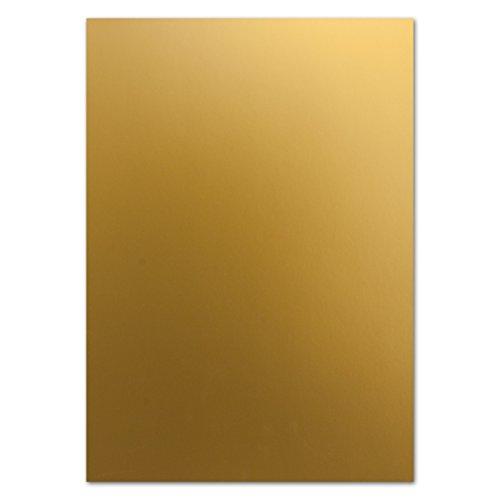 15 Stück Bastel-karton - Bastelbögen A4 - Gold metallic - DIN A4 - stabile 250 g/m² - Einzelkarte - Einladung